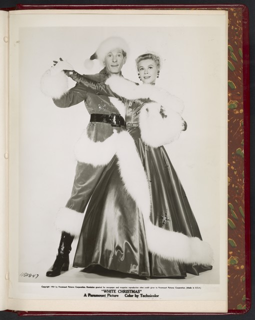 "[ Danny Kaye and Vera-Ellen in Santa Claus costumes - scene from ""White Christmas""]"