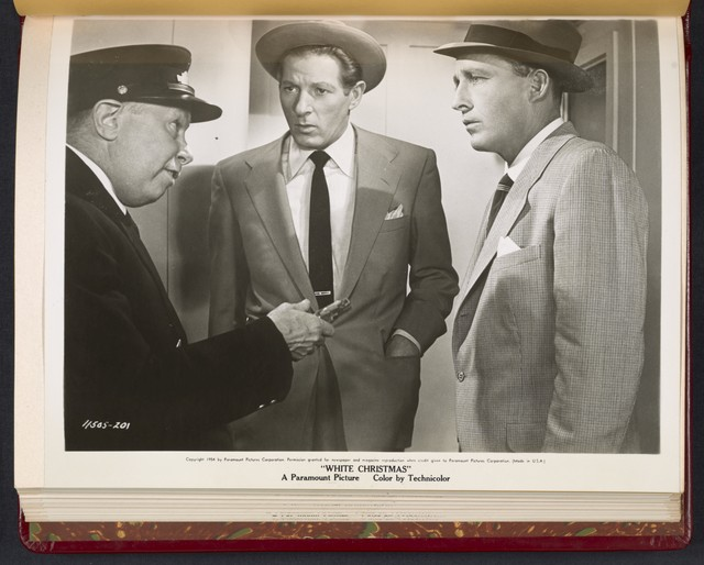 "[ Danny Kaye, Bing Crosby and an usher - scene from ""White Christmas""]"