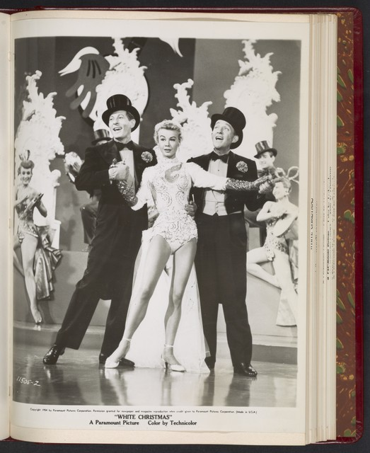 "[ Danny Kaye, Vera-Ellen and Bing Crobsy dancing in stage show - scene from ""White Christmas""]"