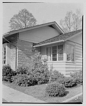 Joseph Lieberman, residence on Parsonage Hill Rd., Short Hills, New Jersey. Detail I, entrance facade