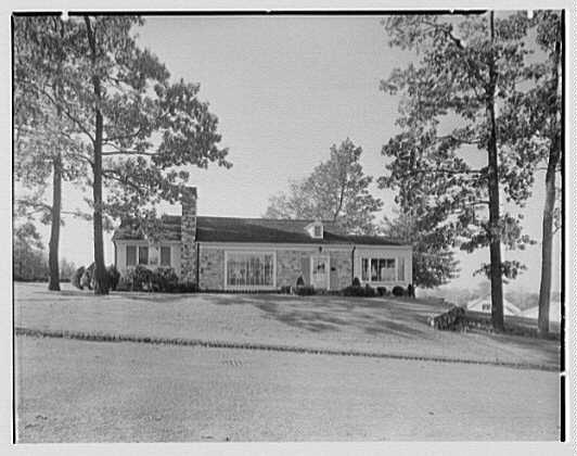 Morris Schwartz, residence at No. 2 Silver Spring Rd., Short Hills, New Jersey. Exterior