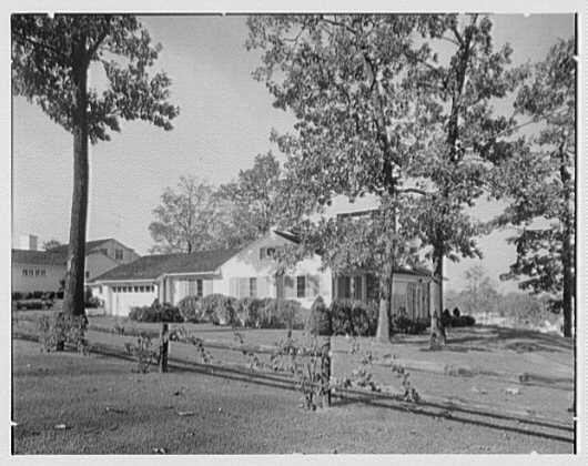 Morris Schwartz, residence at No. 2 Silver Spring Rd., Short Hills, New Jersey. Southwest facade II