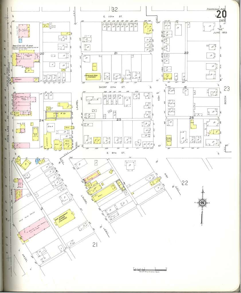 Sanborn Fire Insurance Map from Texarkana, Miller County ...