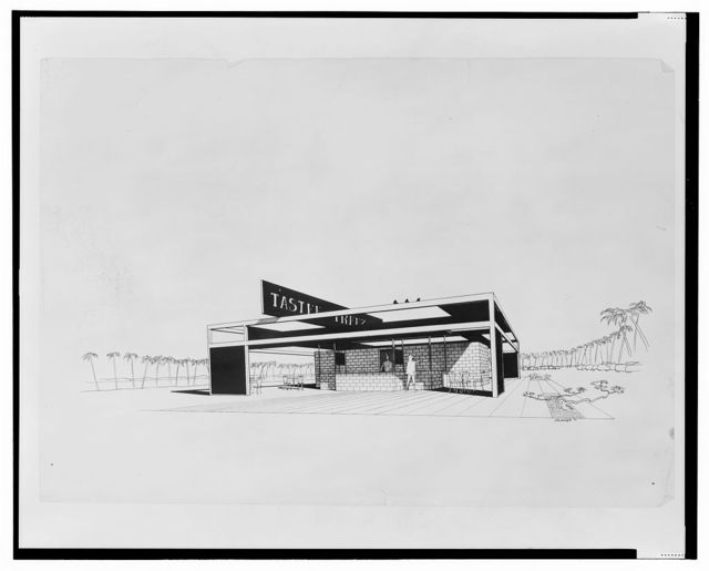 [Tastee Freez (project). Perspective. Rendering] / Rudolph '54.