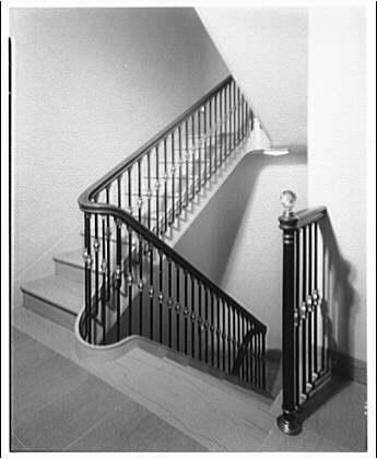 White House interiors. Stairway in White House II