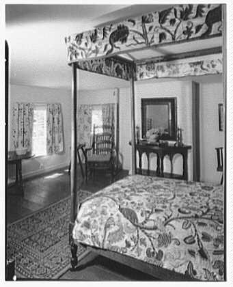 Elinor Merrell, residence in Cross River, New York. Bedroom by Charles Rawson