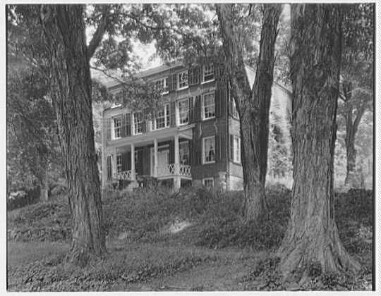 Elinor Merrell, residence in Cross River, New York. Exterior II