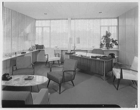 Fairchild Aircraft, Hagerstown, Maryland. Mr. Flood's office I