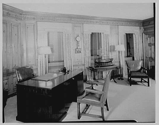 Seamen's Bank for Savings, 30 Wall St., New York City. Mr. Michalis' office I