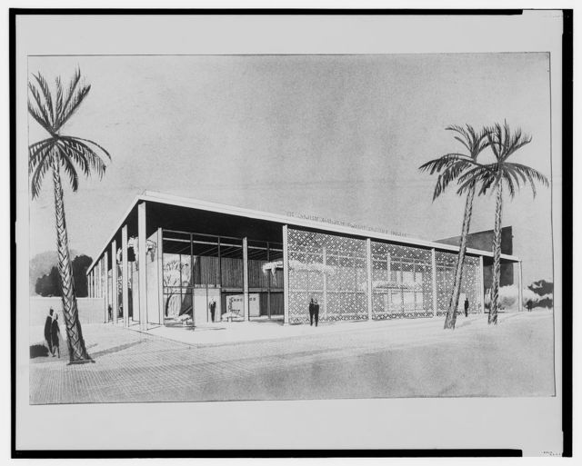 [Bramlett Company building (project). Early scheme. Rendering]
