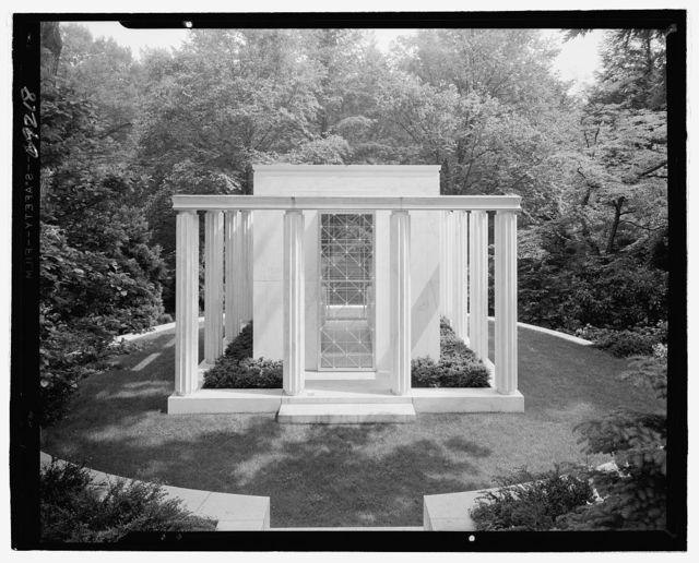 Lasker Mausoleum, Sleepy Hollow Cemetery, North Tarrytown, New York. Entrance facade