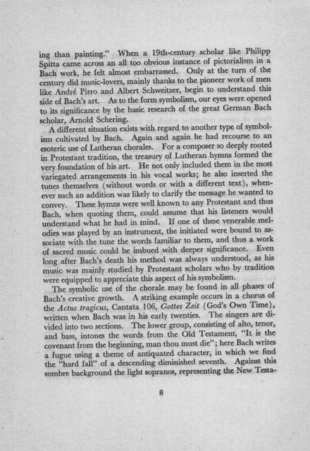 Symbolism in the music of Bach a lecture delivered in the Whittall Pavilion of the Library of Congress, May 23, 1955