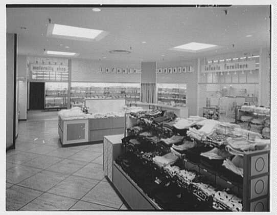 Burdine's department store, business in 163rd St. Shopping Center, Miami, Florida. Maternity, infants, and infant furniture