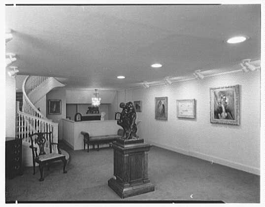Hirschl & Adler Gallery, 21 E. 67th St., New York. First floor, from entrance