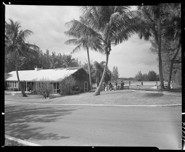 Jupiter Golf Clubhouse, Hobe Sound, Florida. Wide view, golf house and course