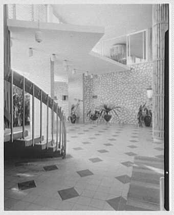Arawak Hotel, Jamaica, British West Indies. Interior, to entrance