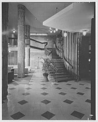 Arawak Hotel, Jamaica, British West Indies. Stairs and columns