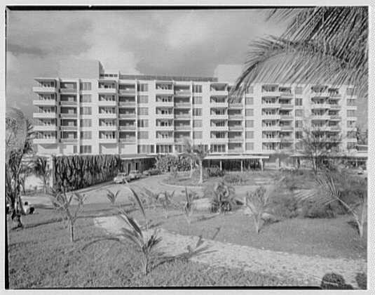 Arawak Hotel, Jamaica, British West Indies. View from golf course