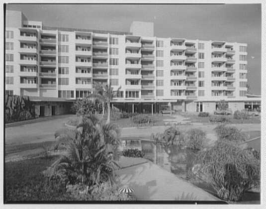 Arawak Hotel, Jamaica, British West Indies. View from pool