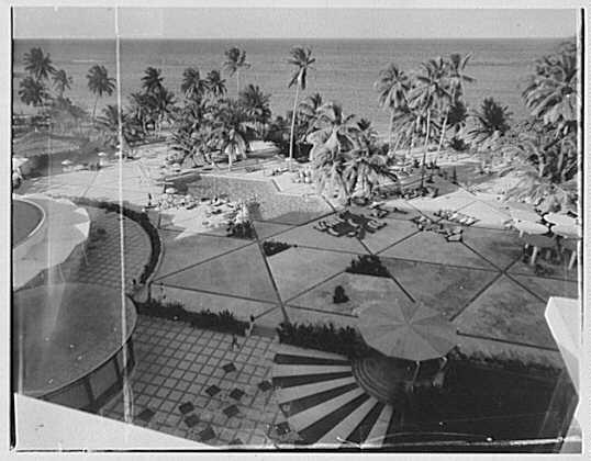 Arawak Hotel, Jamaica, British West Indies. View from roof