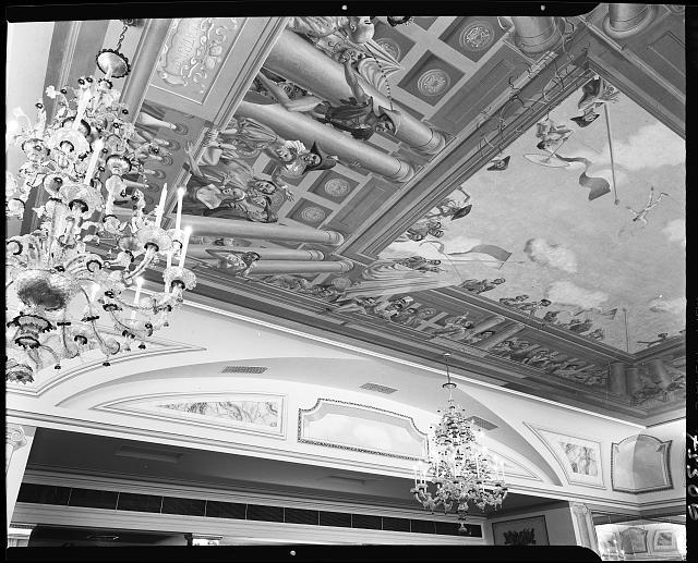 Celebrity Room, Playhouse, Palm Beach, Florida. Ceiling mural