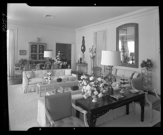 Dr. and Mrs. Leon Levy, residence at 1409 S. Ocean Blvd., Palm Beach. Living room I