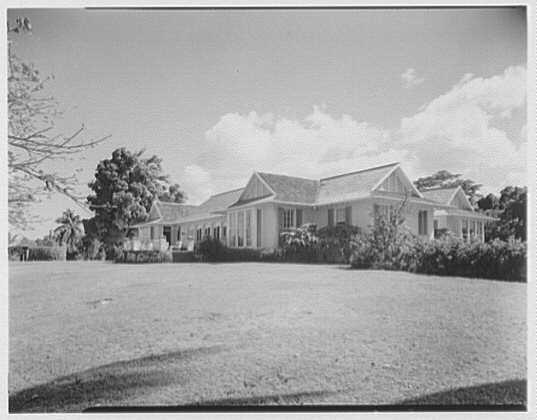 Dr. & Mrs. Matthew Mellon, residence at Runaway Bay, Jamaica, British West Indies. General view
