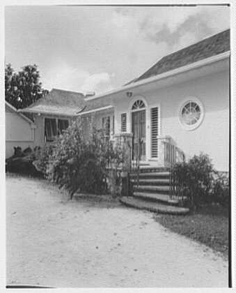 Dr. & Mrs. Matthew Mellon, residence at Runaway Bay, Jamaica, British West Indies. Entrance I