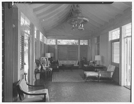 Dr. & Mrs. Matthew Mellon, residence at Runaway Bay, Jamaica, British West Indies. Game room