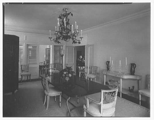 Dr. & Mrs. Matthew Mellon, residence at Runaway Bay, Jamaica, British West Indies. Dining room I