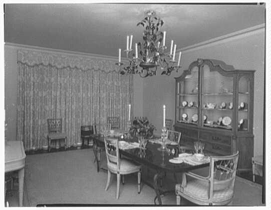 Dr. & Mrs. Matthew Mellon, residence at Runaway Bay, Jamaica, British West Indies. Dining room II