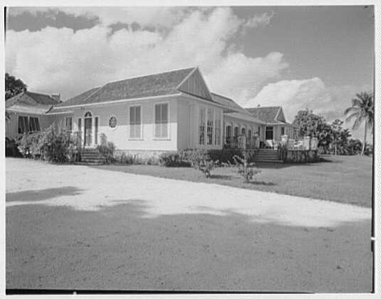 Dr. & Mrs. Matthew Mellon, residence at Runaway Bay, Jamaica, British West Indies. General view of house