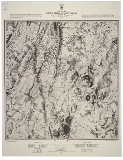 Map of the battle field of Gettysburg, July 1st, 2nd, 3rd 1863 /