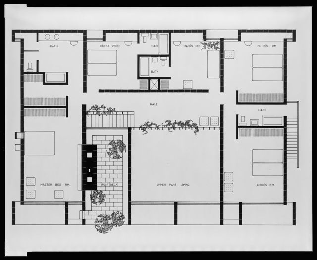 [Milam residence, Ponte Vedra Beach, Florida. Second floor plan]
