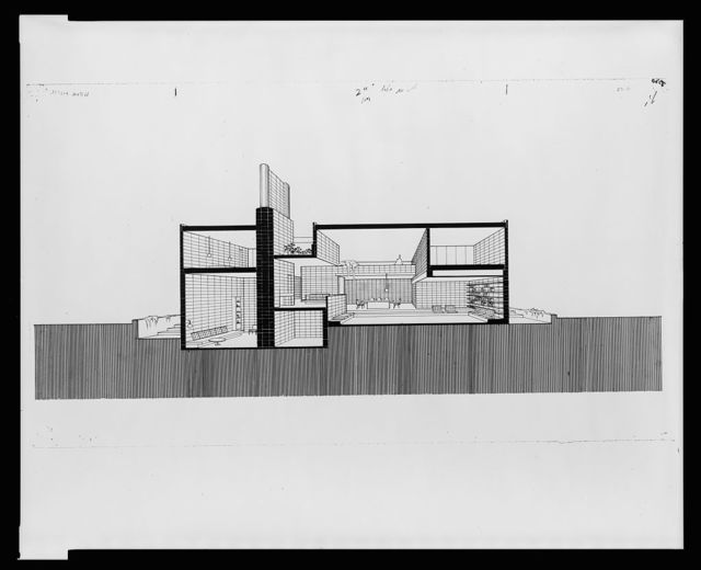 [Milam residence, Ponte Vedra Beach, Florida. Section perspective]