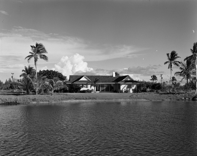Port Royal Beach Club, Naples, Florida. Volk's house from water