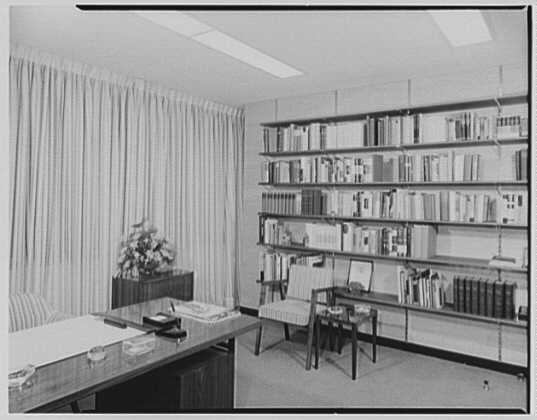 Steuben Glass, business at 717 5th Ave., New York City. Sally Walker's office