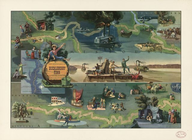 The adventures of Huckleberry Finn from the book by Mark Twain : [Mississippi River] /