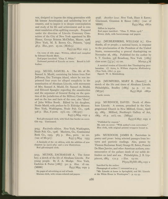 A catalog of the Alfred Whital Stern Collection of Lincolniana.