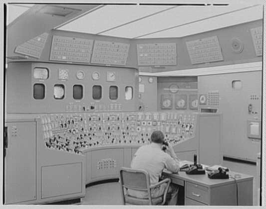 Bergen generating station, Ridgefield, New Jersey. Control room