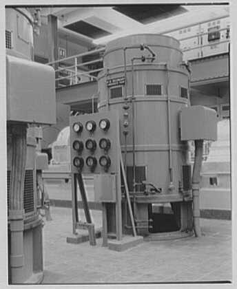 Bergen generating station, Ridgefield, New Jersey. Pump motor