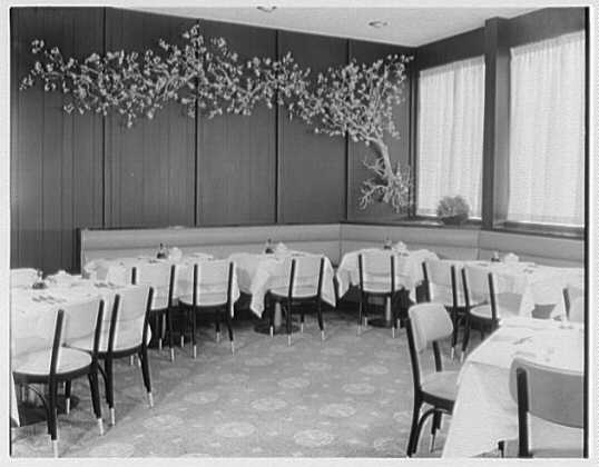 Gum Wah, Old Country Rd., Westbury, Long Island. Chinese tree in dining room
