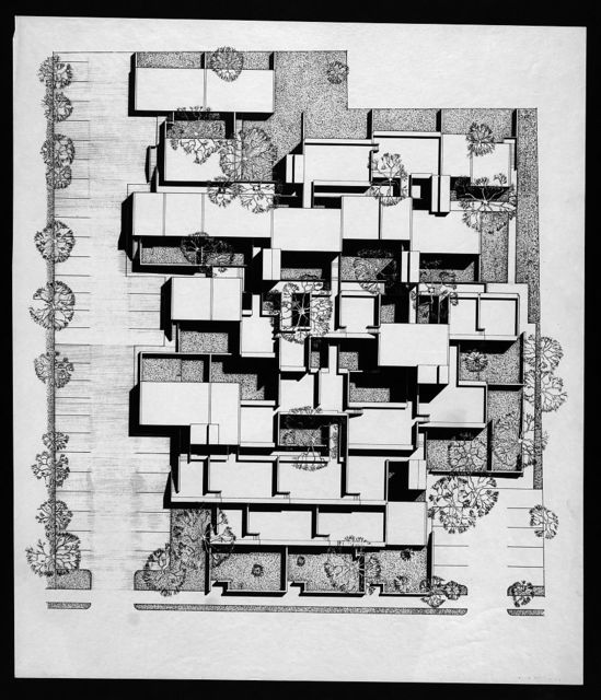 [Married Students Housing, Yale University, New Haven, Connecticut. Perspective plan of housing complex]