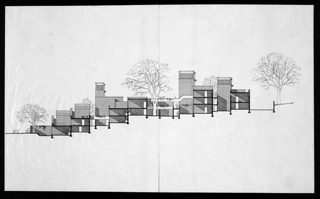 [Married Students Housing, Yale University, New Haven, Connecticut. Section of housing complex]
