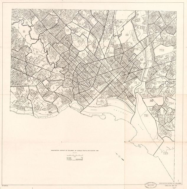 Washington, District of Columbia, by census tracts and blocks : 1960 /