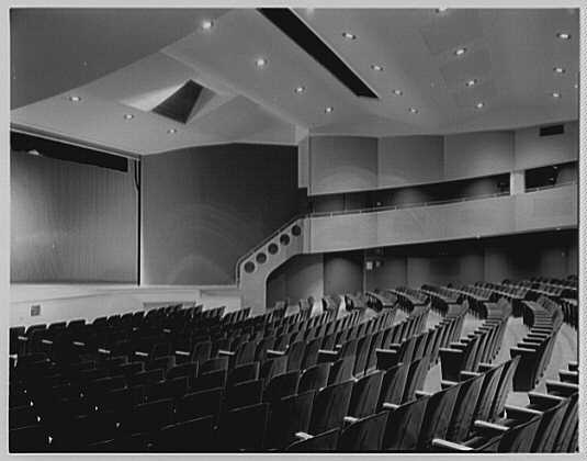 Charles S. Colden Auditorium and School, Queens College. Small theatre from below