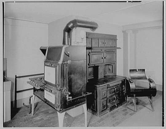 John Adams, residence in Quincy, Massachusetts. Kitchen, to stoves