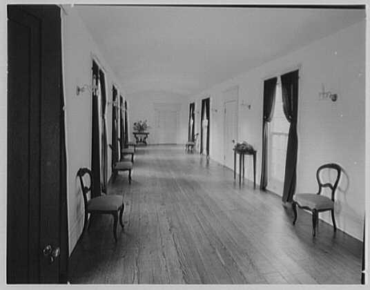 John Tyler, Sherwood Forest, residence in Virginia. Ballroom