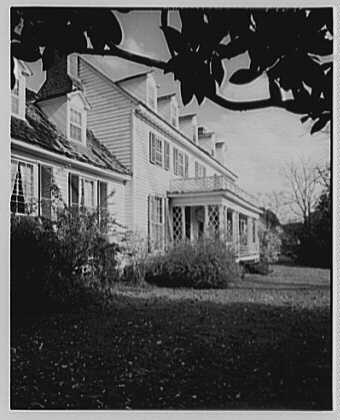 John Tyler, Sherwood Forest, residence in Virginia. Exterior