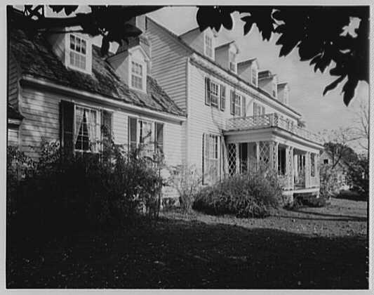 John Tyler, Sherwood Forest, residence in Virginia. Exterior from southwest